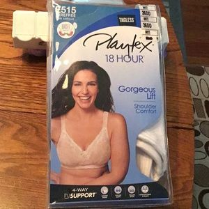 Playtex 18 Hour white 38DD wirefree bra NWT